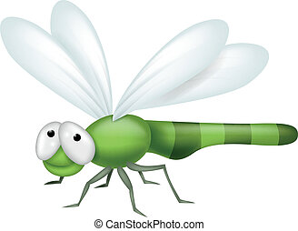Vector illustration of Dragonfly cartoon