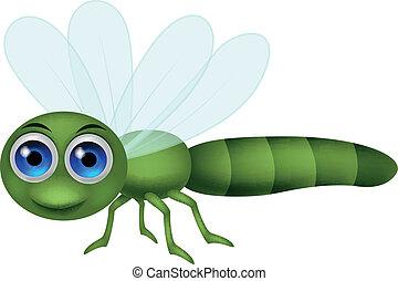Vector illustration of Dragonfly cartoon