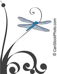 vector illustration of dragonfly (EPS 10)