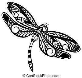 Vector illustration of Dragonfly
