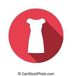 vector illustration of dress flat design icon