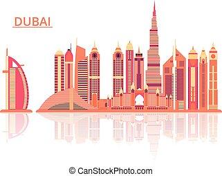 Vector illustration of Dubai city