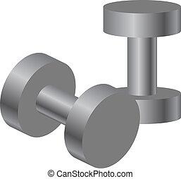 Vector illustration of dumbbells