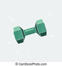 Vector illustration of Dumbell isolated on white background.