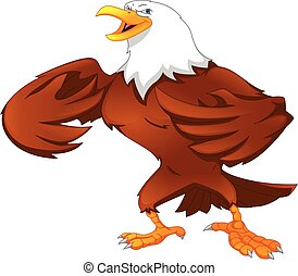 eagle cartoon on a white background
