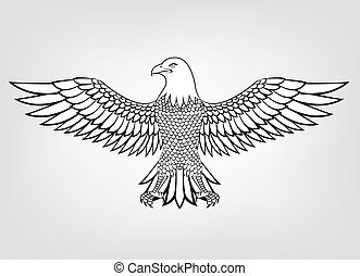 Eagle mascot  - Vector Illustration Of Eagle mascot