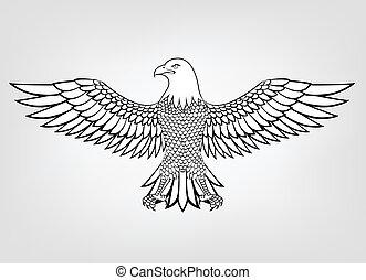 Eagle mascot - Vector Illustration Of Eagle mascot