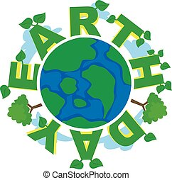 Earth Day Around Planet