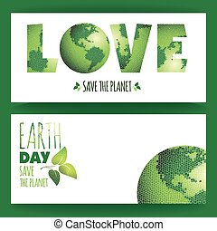 Vector illustration of Earth Day.