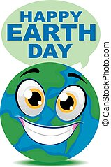 Earth Smiling Mascot