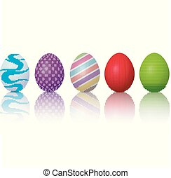 Easter eggs on a white background