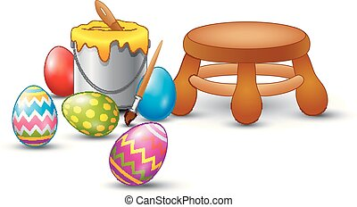 Easter eggs painting set