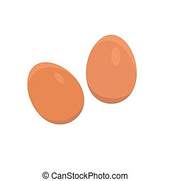 Vector illustration of eggs on a white background