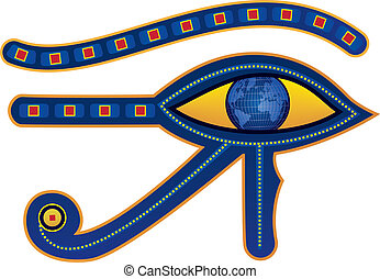 egypt eye - vector illustration of egypt eye with pupil as...