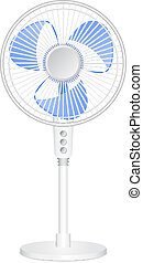 Vector illustration of electric fan