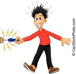 electrocuted boy