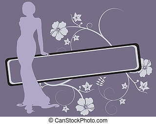 women silhouette - Vector illustration of elegance women...