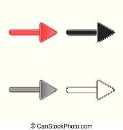 Vector illustration of element and arrow logo. Set of element and direction vector icon for stock.
