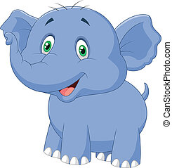 Elephant cartoon  - Vector illustration of Elephant cartoon