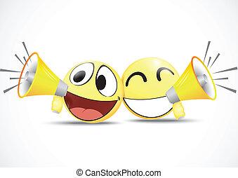 Emoticon with speaker .business com