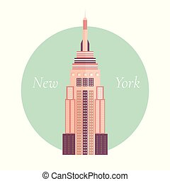Vector illustration of Empire State Building