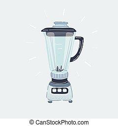 Vector illustration of Empty blender on white background