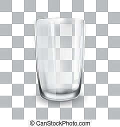Vector illustration of empty glass cup