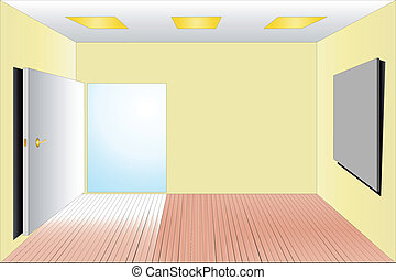 Empty Room Clipart Vector Graphics 10088 EPS Clip Art