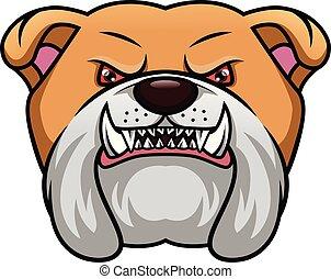 english bulldog head mascot