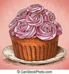 engraving pink cake