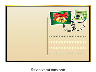 envelope with Christmas stamps