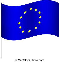 europe union flag - Vector illustration of europe union flag