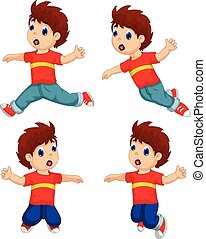 expression boy cartoon collection