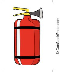 extinguisher, equipment for firefighter - vector...