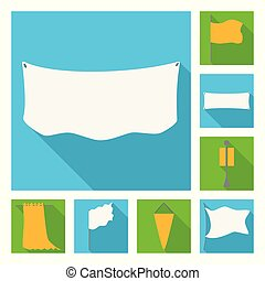 Vector illustration of fabric and white icon. Collection of fabric and presentation stock vector illustration.