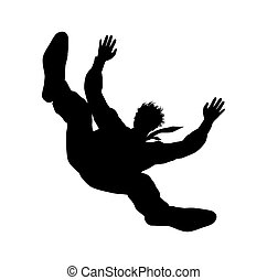 falling man - Vector illustration of falling man