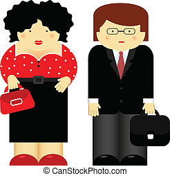 Parents - Vector illustration of family theme. Parents