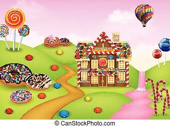 Fantasy sweet candyland