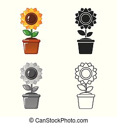 Vector illustration of farm and agriculture icon. Set of farm and plant stock symbol for web.