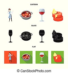 Vector illustration of farm and vineyard symbol. Collection of farm and product vector icon for stock.