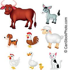 Farm animal cartoon collection set