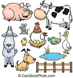 Farm Animals - Vector Illustration of Farm Animals cartoon