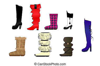 Vector illustration of fashion boot