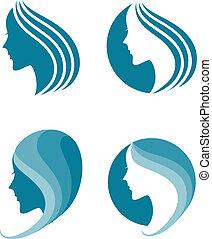 Vector Illustration of fashion icon. symbol of female beauty