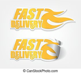 Fast delivery stickers with curl sets