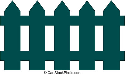 Vector illustration of  fence