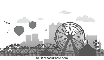 Ferris Wheel - Vector Illustration Of Ferris Wheel