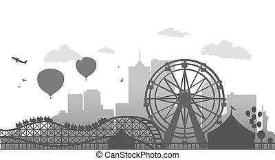 Ferris Wheel - Vector Illustration Of Ferris Wheel