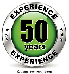 fifty years experience - Vector illustration of fifty years ...