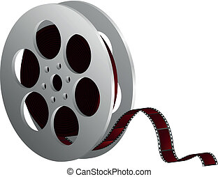 film reel against white - Vector illustration of film reel...